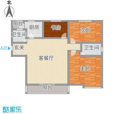 高新名门146.02㎡户型3室3厅2卫1厨