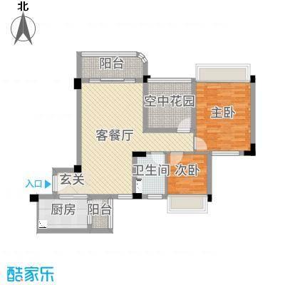 碧桂园翡翠山85.74㎡15号楼03户型3室3厅1卫1厨