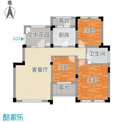 正商红河谷105.00㎡电梯洋房E-6层户型3室3厅1卫1厨