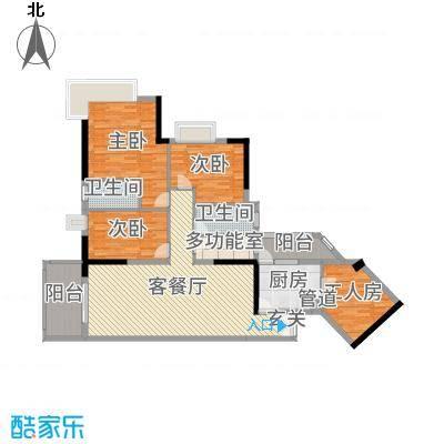 翠竹苑147.07㎡B3/A1A2栋06户型3室3厅2卫1厨