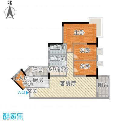 翠竹苑165.01㎡B3/A1/A2栋07户型3室3厅2卫1厨