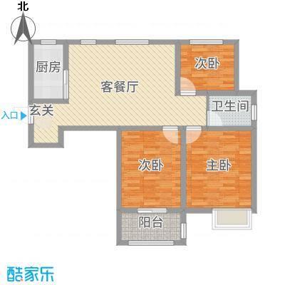 和谐家园99.00㎡G1户型3室3厅1卫1厨