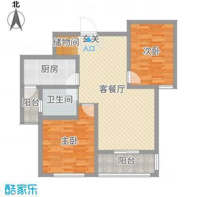 和谐家园91.00㎡G2户型2室2厅1卫1厨