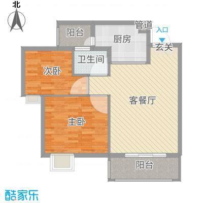 友田碧云轩78.00㎡11栋02户型2室2厅1卫1厨