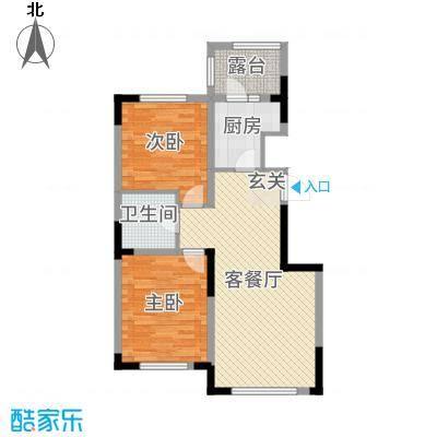倚澜观邸二期90.00㎡15#/17#/19#楼高层户型2室2厅1卫1厨