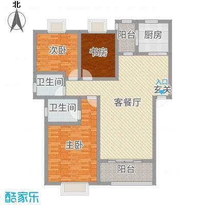 乐仙小镇129.00㎡A【洋房】26栋户型3室3厅2卫1厨