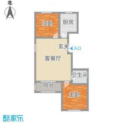 馨视界・花城89.88㎡B8#楼S户型2室2厅1卫1厨