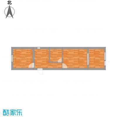 上坤乐城90.00㎡三居户型3室2厅-副本