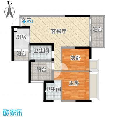天健阳光花园88.36㎡8栋02和6/7栋01/02户型3室3厅2卫1厨