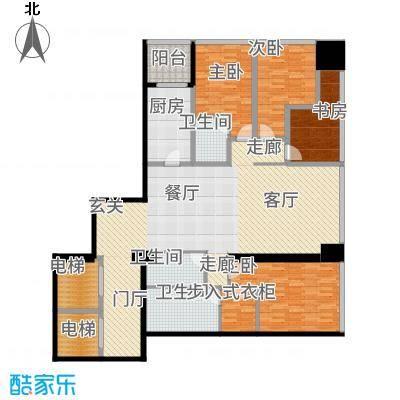 融创玖玺台176.00㎡一期3号楼标准层M户型-副本