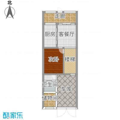 檀宫19-5一层第二方案平面图
