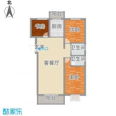 睿瀛豪庭126.55㎡一期G户型3室3厅2卫1厨