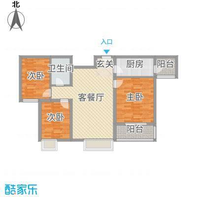 盛弘朗庭95.42㎡13-2-户型3室3厅1卫1厨