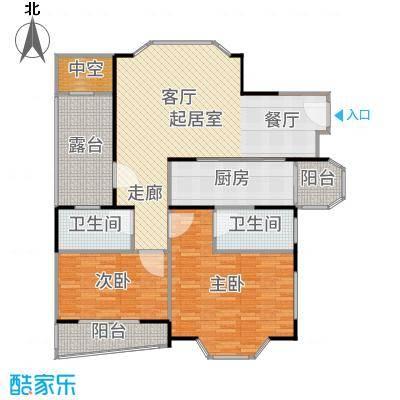 金汇名人苑房型户型2室2卫1厨-副本