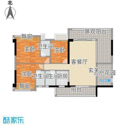 景峰家园137.00㎡T2/T3/T5座01/02户型3室3厅2卫1厨