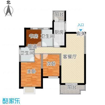沈阳恒大绿洲116.82㎡92#2-2户型3室3厅2卫1厨
