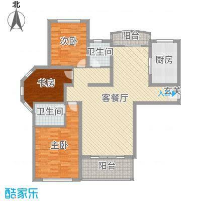 山河源墅多层125.00㎡A户型3室3厅2卫1厨