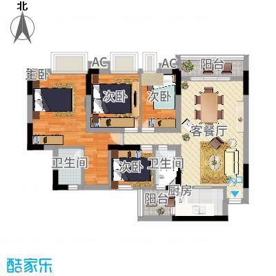 逸涛居 3室 户型图-副本
