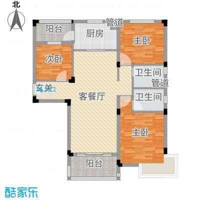 碧桂园・城市花园128.00㎡Y116-A户型3室3厅2卫1厨