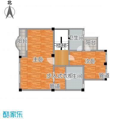 雅戈尔新东城170.00㎡星空墅二层户型3室3厅2卫