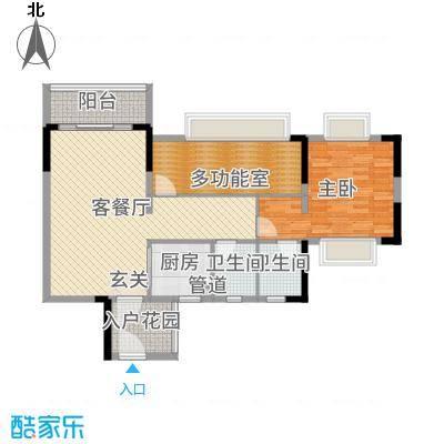 天马河壹号三期・御景湾101.17㎡B9栋04户型2室2厅2卫1厨