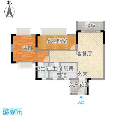 天马河壹号三期・御景湾101.17㎡B9栋03户型2室2厅2卫1厨