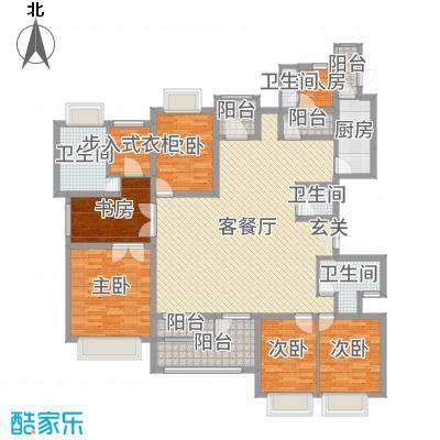 金广君悦山187.00㎡2号楼B户型4室4厅2卫1厨