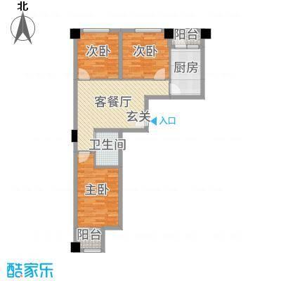 国际总部花园99.50㎡4#5#A4户型3室3厅1卫1厨