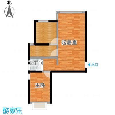 金乾公馆80.49㎡E户型两室两厅80.49平米样板间户型2室2厅1卫-副本