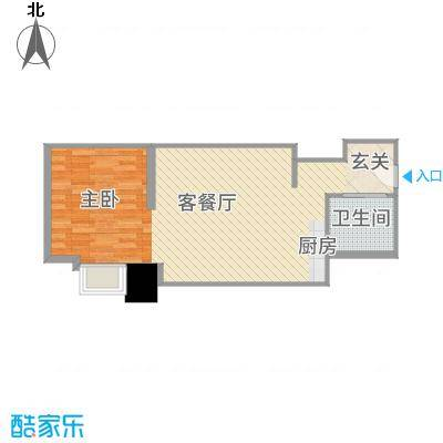 南通中央商务区59.79㎡合同-户3户型1室1厅1卫1厨