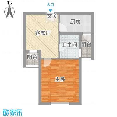 翔宇壹号51.00㎡D户型1室1厅1卫