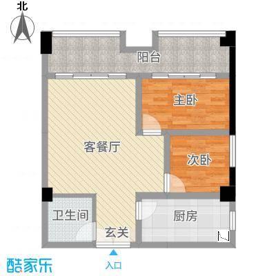 长城雅苑二期82.22㎡3#E户型2室2厅1卫1厨