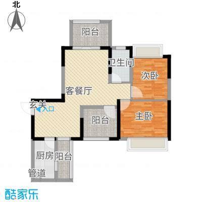 中铁城锦南汇91.00㎡7号楼标准层K、K1户型3室3厅1卫1厨