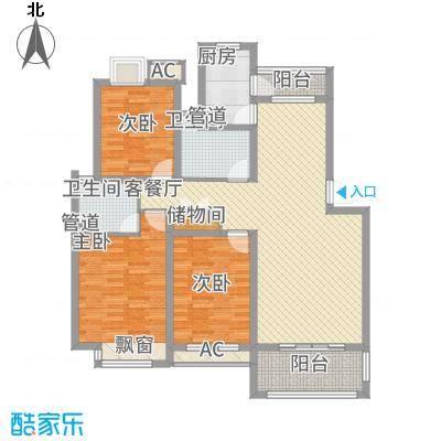 京东小区E区91.00㎡京东小区E区2室户型2室-副本