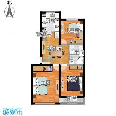 泉水景富铭苑90.81平三室一厅一卫一厨