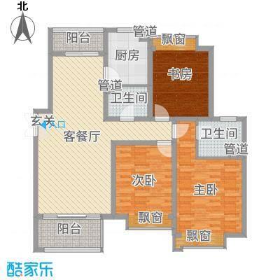 舜奥华府140.00㎡北区1#2#E户型3室3厅2卫1厨