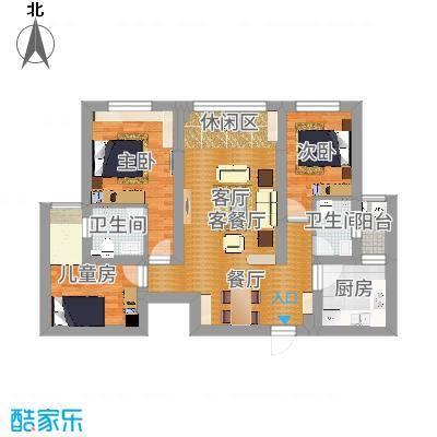 Y云南大理金K海景109㎡(现代3室2厅)KJL-B-副本