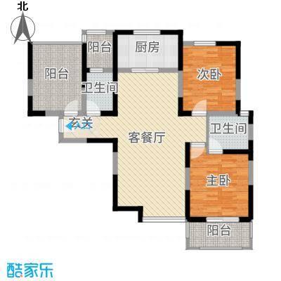 凤城九号112.91㎡3号楼B1户型2室2厅2卫1厨