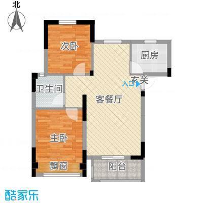 学府丽城79.00㎡3、5、7号楼c户型2室2厅1卫1厨