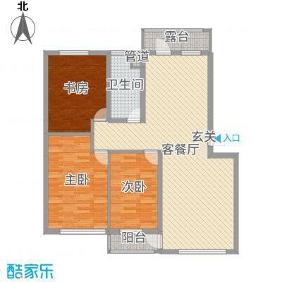 绿色家园112.00㎡I熙境户型3室3厅1卫1厨