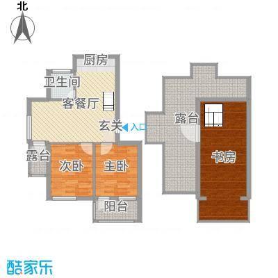 绿色家园110.00㎡G熙境瞰景佳品户型3室3厅1卫1厨