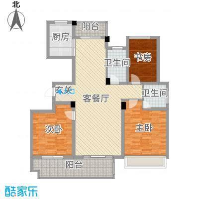 锦绣江南126.00㎡3#、6#、9#小高层G户型3室3厅2卫1厨