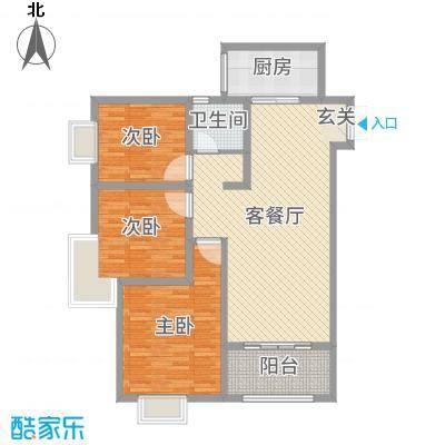 君河湾114.00㎡三期户型3室3厅1卫1厨