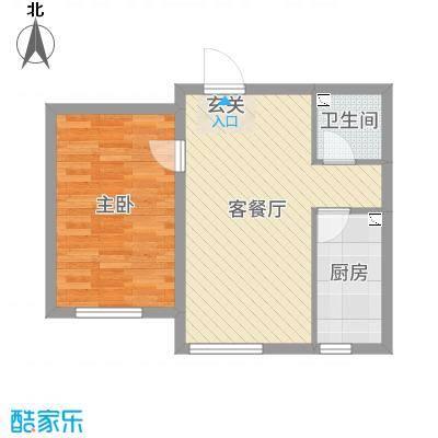 中东凯悦公馆62.00㎡小高层7/10/11/13号楼标准层C户型1室1厅1卫1厨