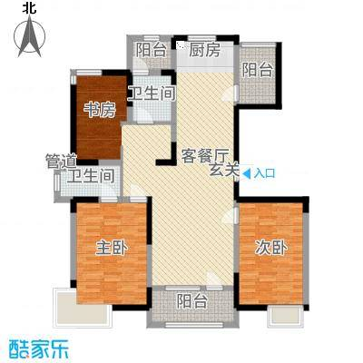 彩凤山城观邸132.71㎡F户型3室3厅2卫