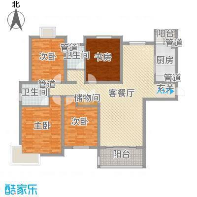 运杰龙馨园159.00㎡3#楼C3户型4室4厅2卫