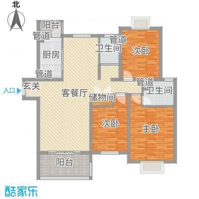 运杰龙馨园138.00㎡3#楼C1户型3室3厅2卫