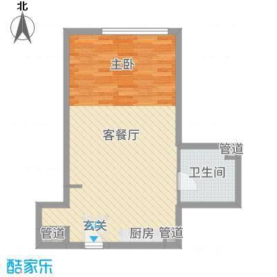 澳景蓝湾60.67㎡4号楼E户型1室1厅1卫