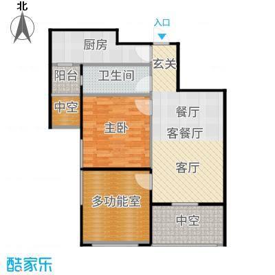 紫阳楚世家户型1室1厅1卫1厨-副本