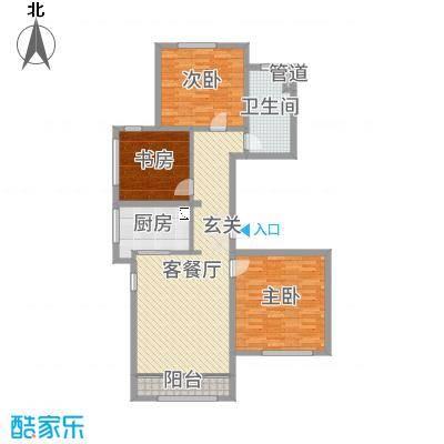 绿城南湖春晓116.69㎡三期111、114、115、117、118号楼标准层A1户型3室3厅1卫1厨